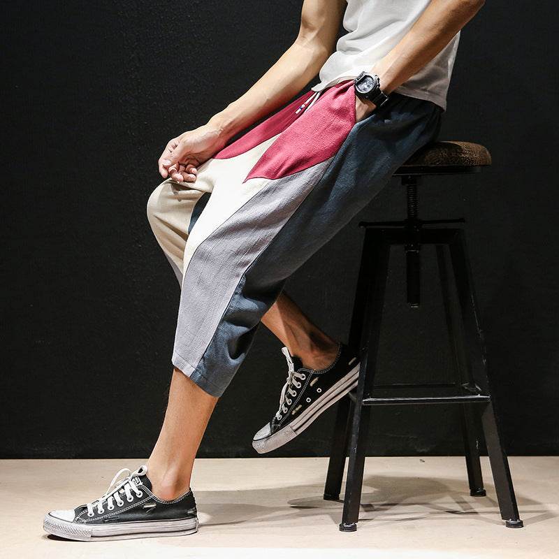 Summer style Chinese big pocket cargo shorts