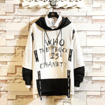 Mens Color Block Patchwork Harajuku Hoodie