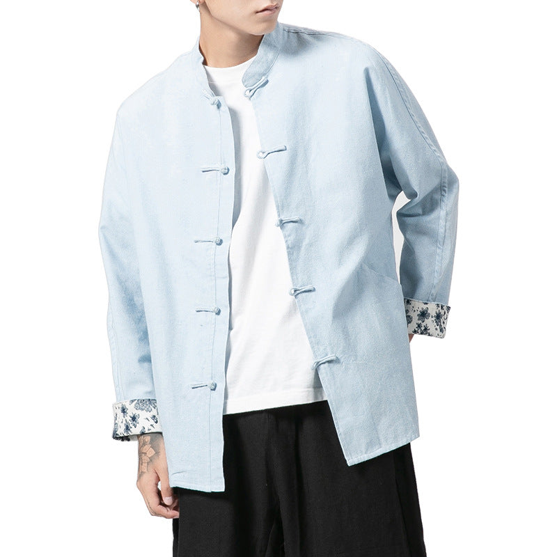 Chinese style Tang suit collar collar retro buckle Cardigan