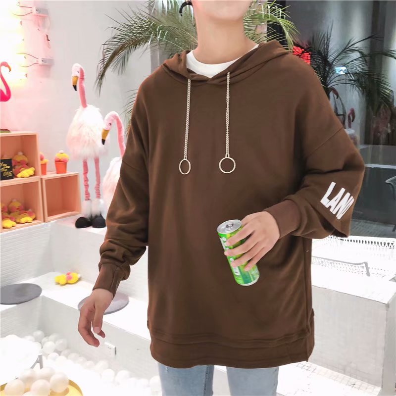 Men NYC LAND Printed Long Sleeve Hoodies