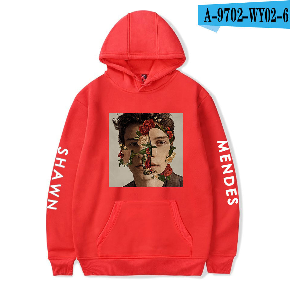 Shawn Sweatshirt Shawn Mendes Hoodies Unisex  round neck loose hooded sweater
