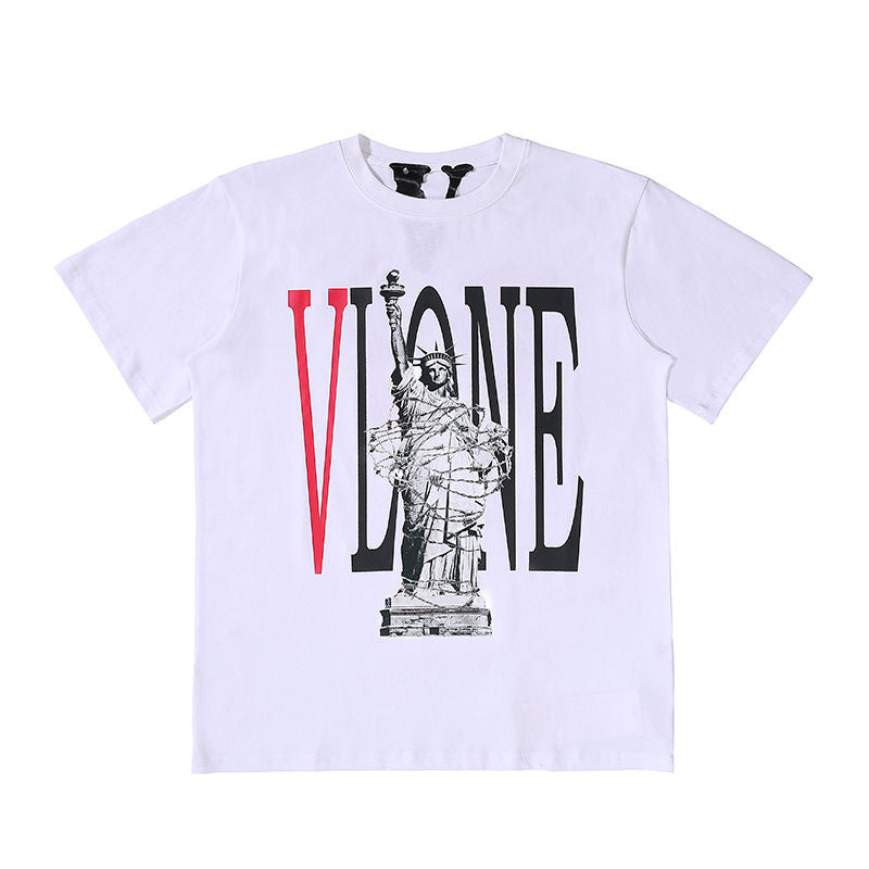 Vlone Shirt Men/women Vintage Hip Hop Streetwear T-shirt