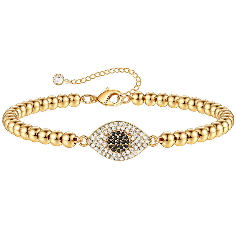Evil eye Bracelet Rose-gold tone plated