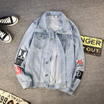 Men casual Autumn Denim jacket