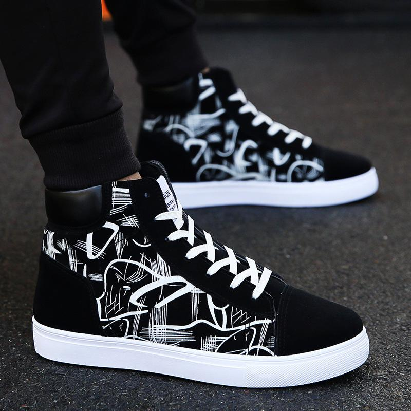 Men New High Top Casual Shoes