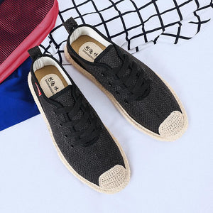 Men Linen canvas shoes