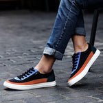 Mens Casual Canvas Zipper Sneakers