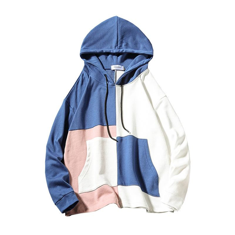 Plus Size Unisex patchwork hoodie
