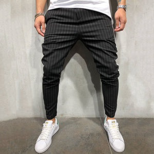 New Stripe Urban Straight Casual Trousers