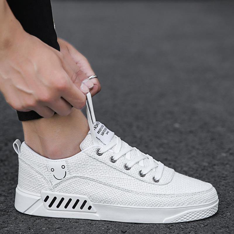 New Mens white shoes Korean shoes trend Canvas Shoes