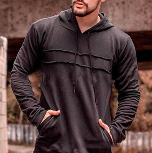Men Fashion Patchwork Style Plain Hoodie - thistylish