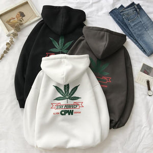 Men Leaf printed Hoodies - thistylish