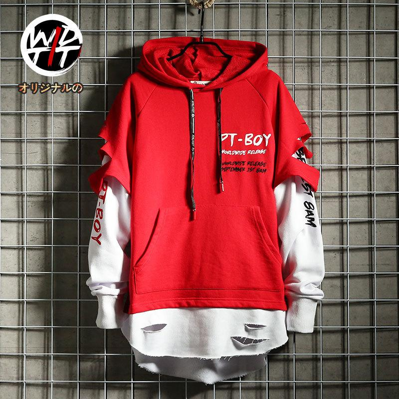 Men hip hop hooded sweater