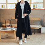 Men Chinese Style Long Casual Loose Cardigan