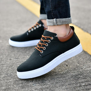 2019 new canvas shoes Korean men's wild casual shoes - freakichic