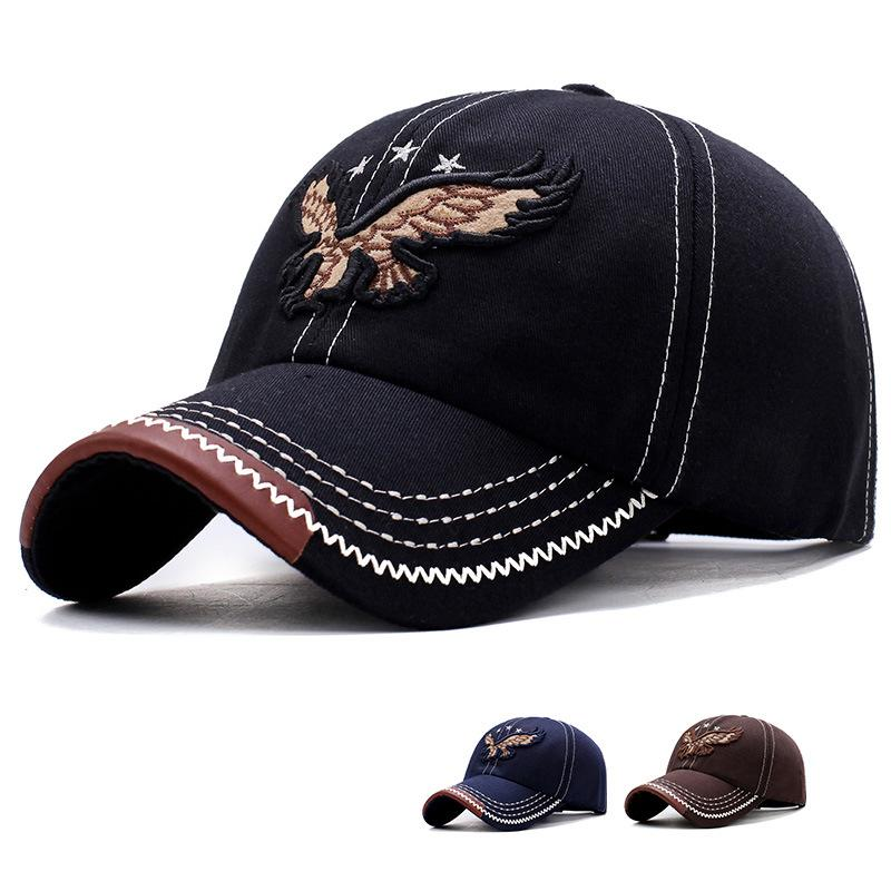 Eagle Embroidered Baseball Cap Outdoor Sunshade Cap - freakichic
