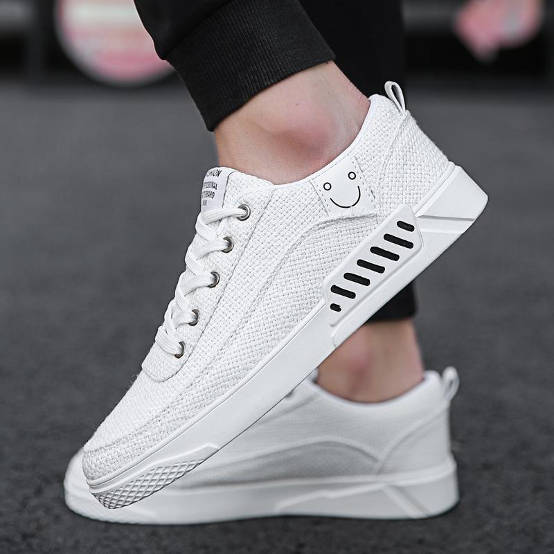 New Mens white shoes Korean shoes trend