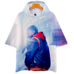 Unisex 3D Hot Printed Hooded T-shirts