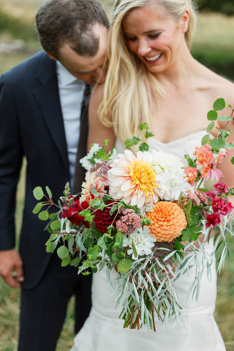 Elegant and colorful ranch wedding | Lander, WY