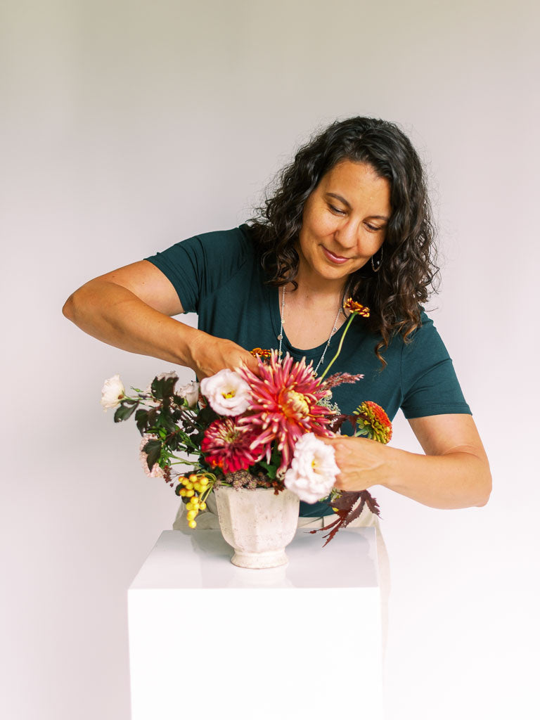 Teresa Tibbets, owner and florist of Dandelion Floral in Lander, Wyoming