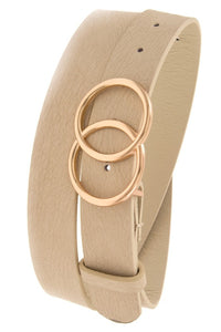 Double Circle Belt - Beige