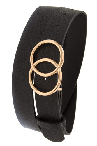 Double Circle Belt - Black