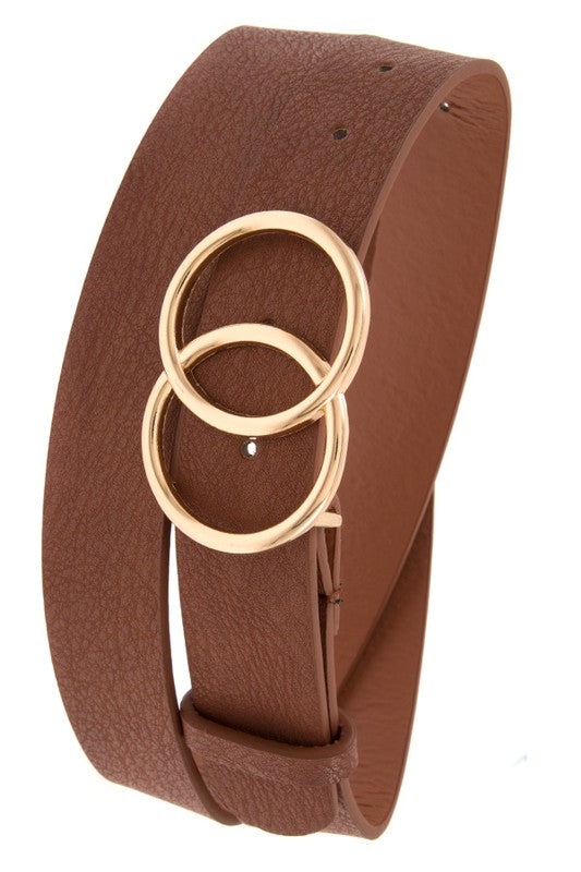 Double Circle Belt - Brown