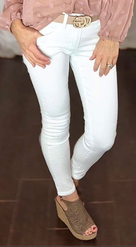 White non-distressed jeans