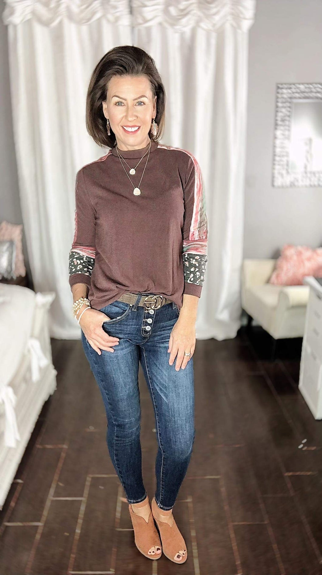 Fall Mock neck top