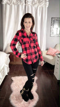 Load image into Gallery viewer, Plaid Crazy Top - also in plus sizes!