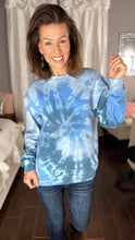 Load image into Gallery viewer, *BLANK NO GRAPHICS* Blue Tie Dye Sweatshirt