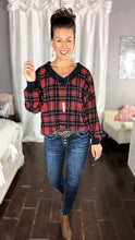 Load image into Gallery viewer, Plaid V-Neck Sweater