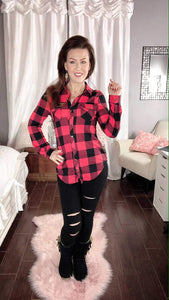 Plaid Crazy Top - also in plus sizes!
