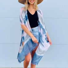 Load image into Gallery viewer, Watercolor tie dye kimono #2