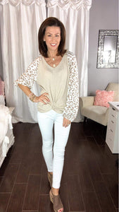 Leopard Ribbed top