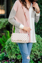 Load image into Gallery viewer, Ivory Checkered Crossbody Clutch