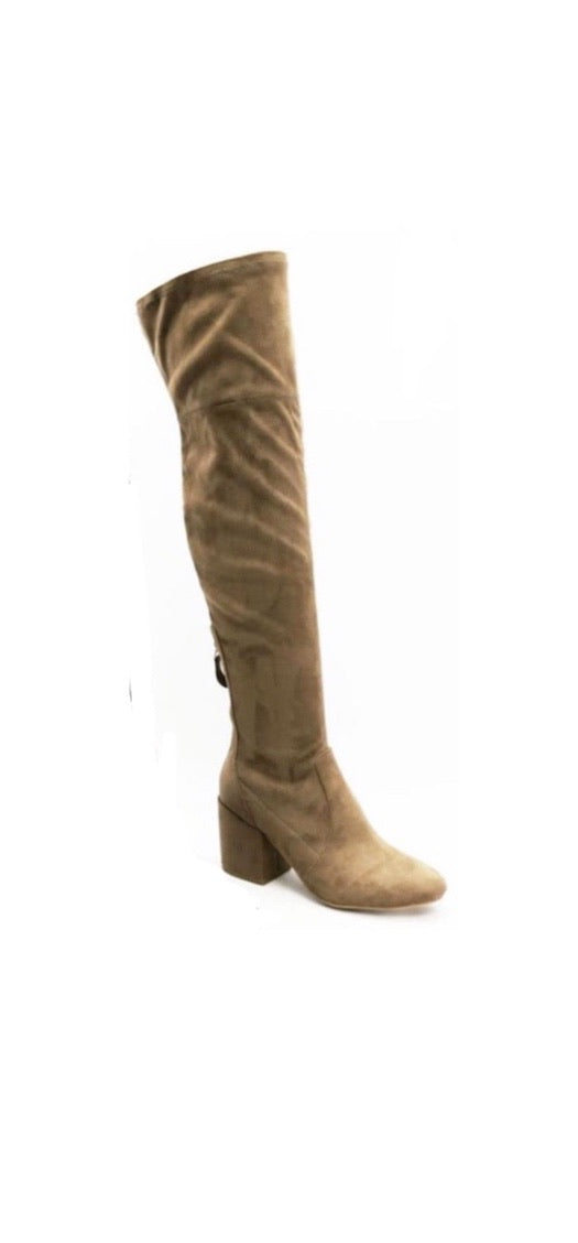 Tall knee high boots