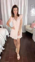 Load image into Gallery viewer, Pink Eyelet Dress