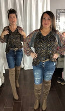 Load image into Gallery viewer, Boho Leopard Top