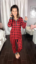 Load image into Gallery viewer, Red Buffalo Plaid PJ's
