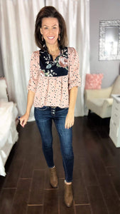 Breezy Leopard & Floral Top