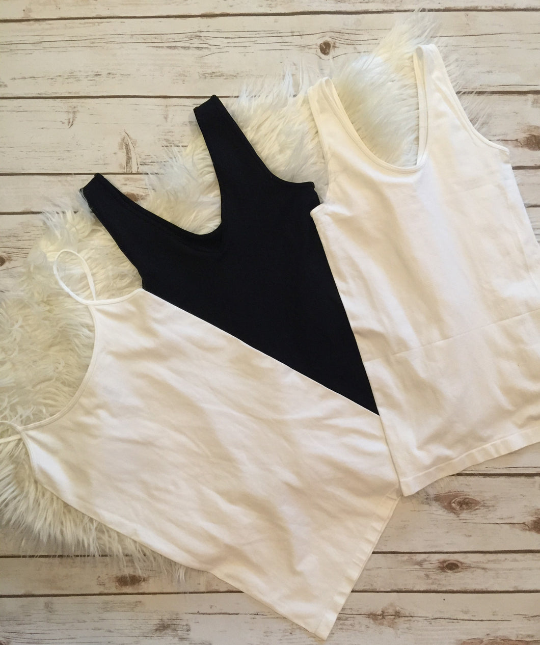 Layering Tanks - White wide strap