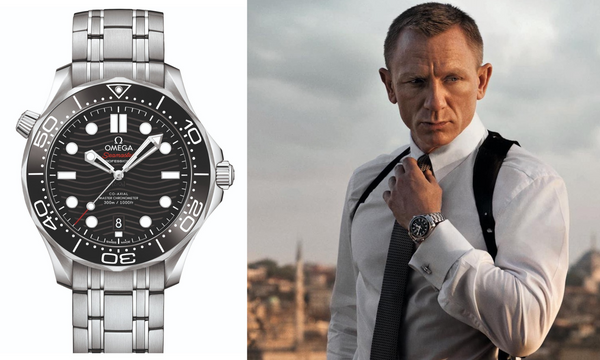 james bond with watch omega seamaster