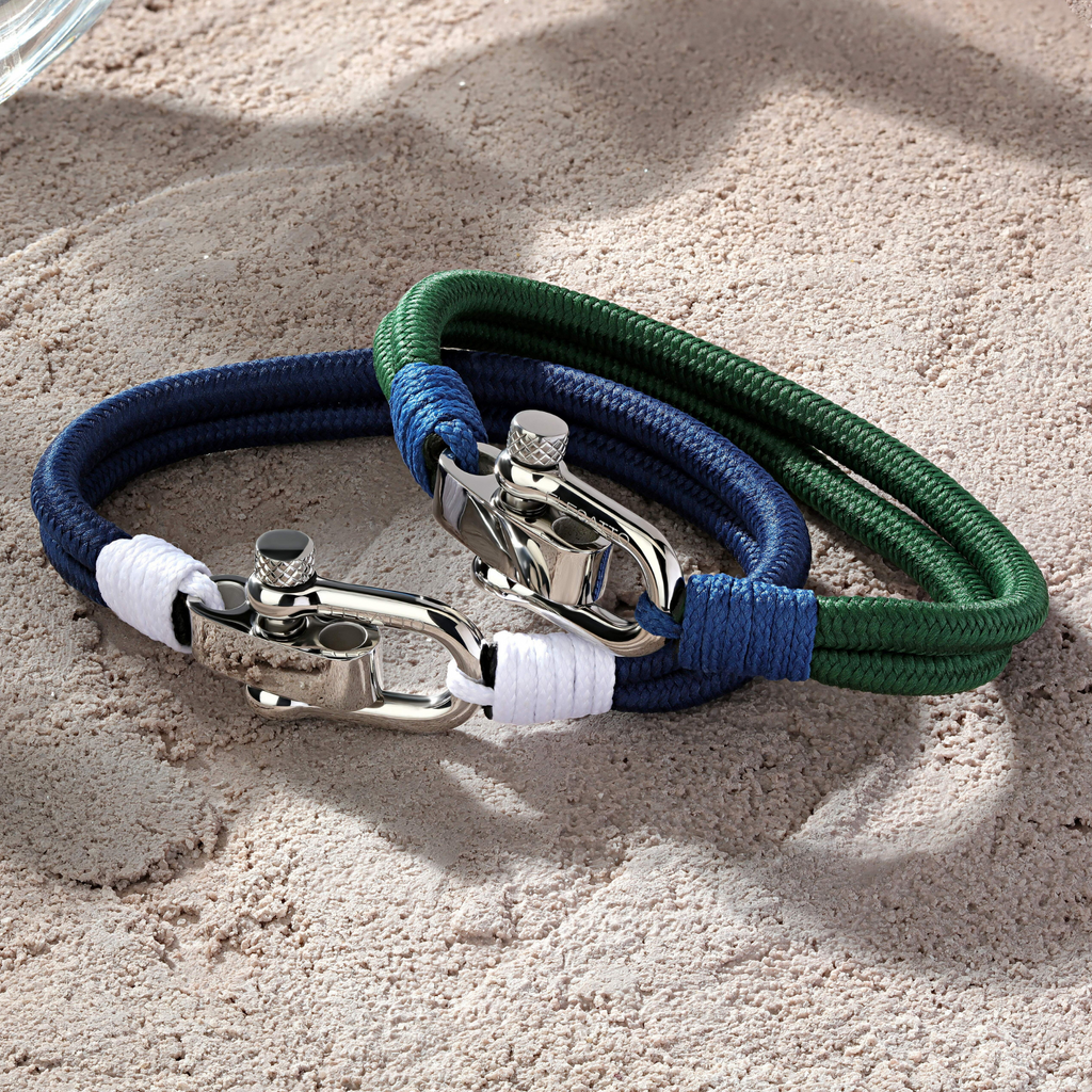 Duetto Navy and Olive Elegatto Bracelets