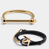 Bangle Gold & Extended Anchor Gold