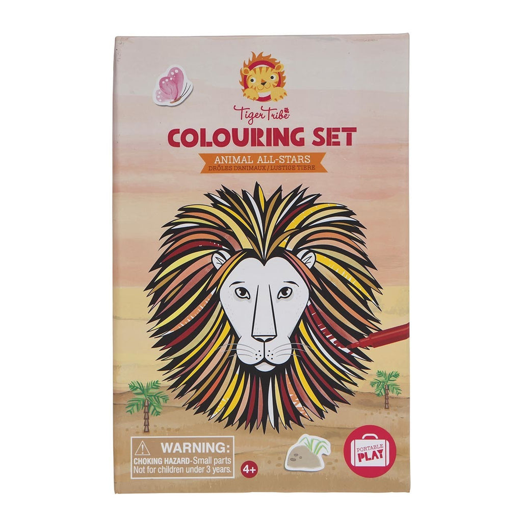 Tiger Tribe - Colouring Set Animal All Stars