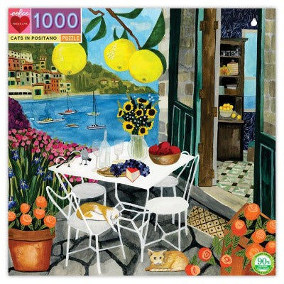 Puzzle - Eeboo Cats in Positano 1000 pc