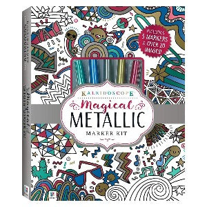 Kaleidoscope Colouring Metallic Markers & Glitter