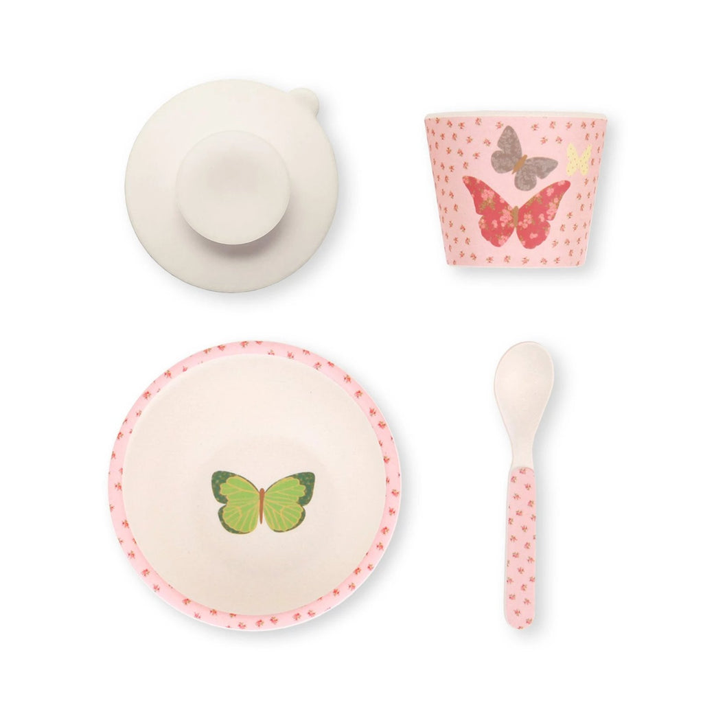 Butterflies Bamboo Feeding Set