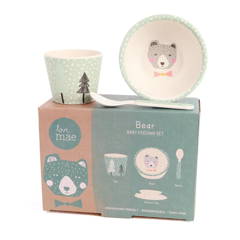 Bear Bamboo Feeding Set